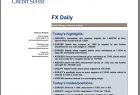 Credit Suisse FX Daily Technical Analysis PDF