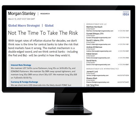 Morgan Stanley Global Macro Strategist