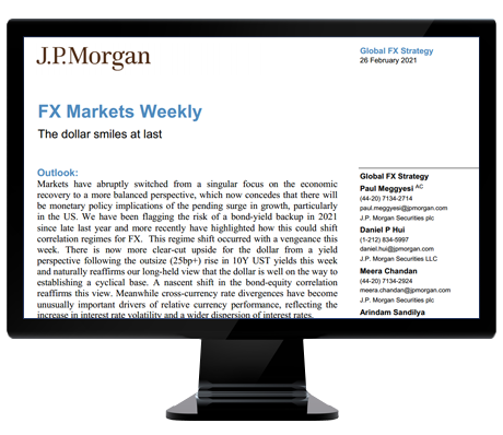 J.P.Morgan FX Markets Weekly