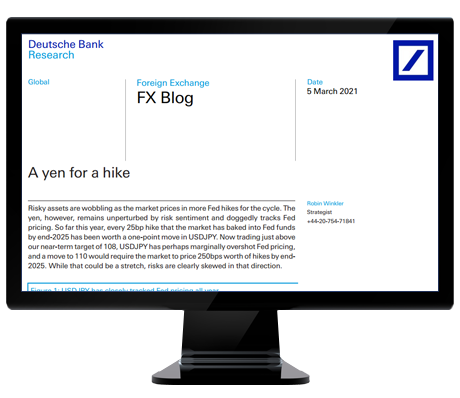 Deutsche Bank FX Research