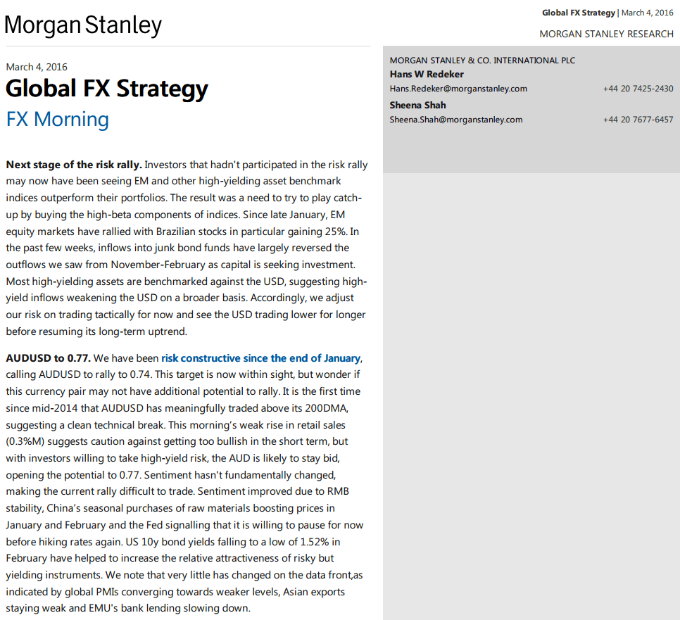 Morgan stanley report